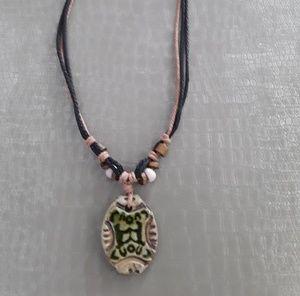 Boho hand tied pendant